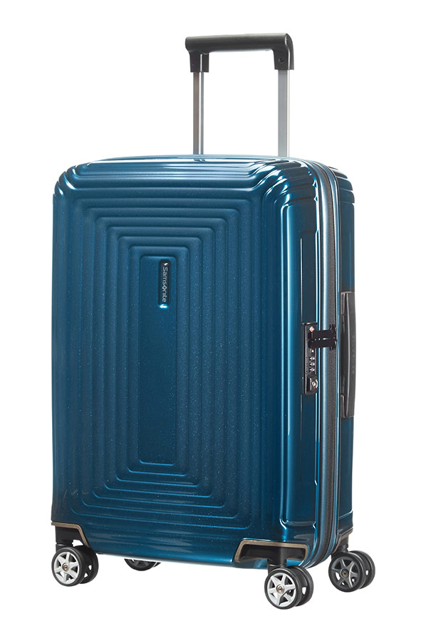 Valise cabine 4 roues Samsonite Neopulse 55 cm Metallic Blue bleu iuFTC